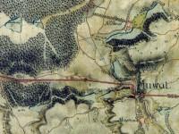 Výřez z mapového listu I. vojenského mapování č. 108 – Úvaly u Prahy